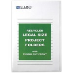 C-line Recycled Project Folders, Clear - Reduced Glare, LEGAL, 14 x 8 1/2, 25/BX, 62129 CLI62129