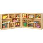 Jonti-Craft Mobile Fold-n-Lock Open Shelf Unit JNT0369