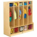 Jonti-Craft 5 Section Child Step Coat Locker JNT0468