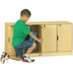 Jonti-Craft Single Stack 4-Section Student Locker JNT4688
