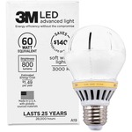 3M Commercial LED Advanced Light A19 RCA19B3, Soft White 3000K, 800 Lumens Dimmable MMMRCA19B3
