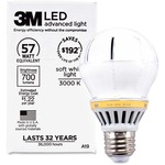 3M Commercial LED Advanced Light A19 RCA19C3, Soft White 3000K, 700 Lumens Dimmable MMMRCA19C3