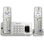 Panasonic KX-TGE272S DECT 6.0 1.90 GHz Cordless Phone - Silver PANKXTGE272S
