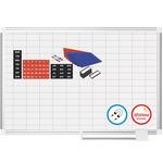 MasterVision Grid Magnetic Platinum Pure Wht Brd Kit BVCCR0830830A