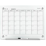 "Quartet Infinity 24"" Glass Magnetic Calendar Board QRTGC2418F"