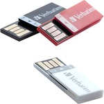 Verbatim 8GB Clip-It USB Flash Drive - 3pk - Black, White, Red VER98674