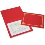 SKILCRAFT Linen Gold Foil Certificate Holder NSN6272960