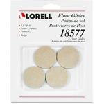 Lorell Self-Stick Round Felt Floor Glides LLR18577