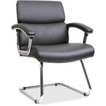 Lorell Sled Base Leather Guest Chair LLR20019