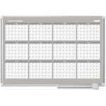 "MasterVision 48"" 12-month Calendar Planning Board BVCGA05106830"
