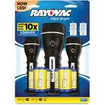 Rayovac Value Bright Flashlight Set RAYBRSLED3PKBTP