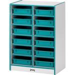 Rainbow Accents Rainbow Paper Cubbie Mobile Storage (0612JCWW008)