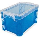 """Advantus Super Stacker Box, 3""""x5"""", Blue AVT40308"""