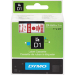 Dymo Red on White D1 Label Tape DYM53715