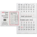 Unicor Fed Wall Calendar UCR5453757