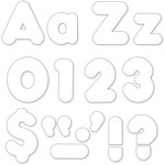 Trend White 4-Inch Casual Uppercase/Lowercase Combo Pack 79905