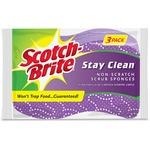 Scotch-Brite -Brite Stay Clean Scrub Sponges (202038CT)