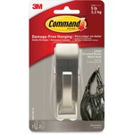 Command™ Large Modern Reflections Hook, Brushed Nickel