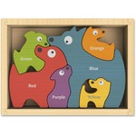 BeginAgain Toys Dog Family Bilingual Puzzle i1501