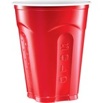 SOLO Squared Plastic Party Cups, 18 oz, Red & Blue, 50/Bag, 12 Bag/Carton SQ185020001