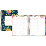 Blue Sky 7x9 Navy Floral Wkly/mthly Planner