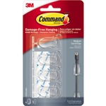 Command Clear Medium Cord Clips, 17301ClearES, 4 Clips, 5 Strips (17301CLRES)