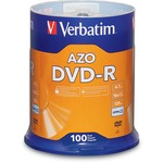 Verbatim AZO DVD-R 4.7GB 16X with Branded Surface - 100pk Spindle VER95102