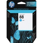 HP 88 Cyan Original Ink Cartridge HEWC9386AN