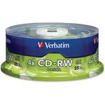 Verbatim 95169 CD Rewritable Media - CD-RW - 4x - 700 MB - 25 Pack Spindle VER95169