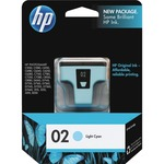 HP 02 Light Cyan Original Ink Cartridge HEWC8774WN