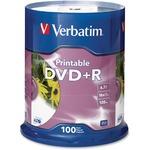 Verbatim DVD Recordable Media - DVD+R - 16x - 4.70 GB - 100 Pack Spindle - Retail VER95145