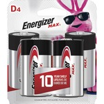 Energizer D Cell Alkaline Battery EVEE95BP4