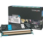 Lexmark Cyan Return Program Toner Cartridge LEXC5220CS