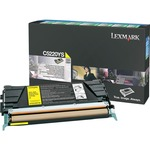 Lexmark Yellow Return Program Toner Cartridge LEXC5220YS