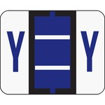 Smead 67095 Violet BCCR Bar-Style Color-Coded Alphabetic Label - Y SMD67095