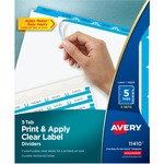 Avery Index Maker Clear Label Divider with Color Tabs AVE11410
