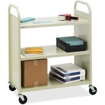 Bretford Basics Flat Shelf Mobile Utility Book Truck BREF336