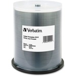 Verbatim CD-R 700MB 52X White Inkjet Printable, Hub Printable - 100pk Spindle VER95252