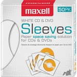 Maxell CD-400 CD/DVD Sleeves (50-Pack) MAX190135