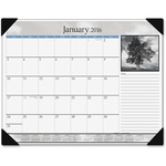 At-A-Glance Black & White Monthly Desk Pad Calendar AAGDMD16200