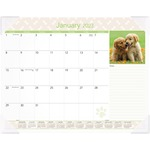 At-A-Glance Puppies Monthly Desk Pad Calendar AAGDMD16632