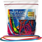 "Alliance Rubber Brites 07800 File Bands - Non-latex Colored Elastic Bands - 7"" X 1/8"" - 50 Pack"