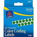Avery Round Color Coded Label AVE05791-BULK