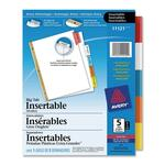 Avery WorkSaver Big Tab Insertable Tab Divider AVE11121