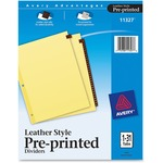 Avery Leather Daily Tab Index Divider AVE11327