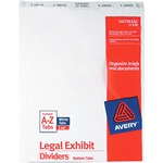 Avery Bottom Tab Legal Exhibit Divider AVE11376