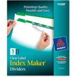 Avery Index Maker Punched Clear Label Tab Divider AVE11408