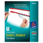 Avery Index Maker Punched Clear Label Tab Divider AVE11413