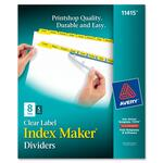 Avery Index Maker Punched Clear Label Tab Divider AVE11415