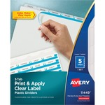 Avery Index Maker Translucent Clear Label Divider AVE11449